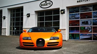 Orange Bugatti Wallpaper 67197