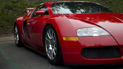 Red Bugatti Car Widescreen Wallpaper 67200