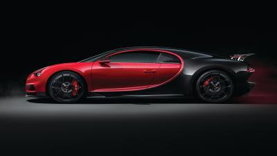 Red Bugatti Side View Wallpaper 67201