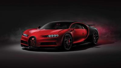 Red Bugatti Widescreen HD Wallpaper 67202
