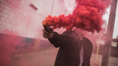 Red Smoke Photography Wallpaper Background 68645