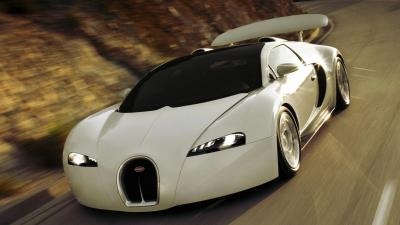 White Bugatti Rollin Shot Desktop Wallpaper 67210