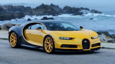 Yellow Bugatti Widescreen Wallpaper 67215