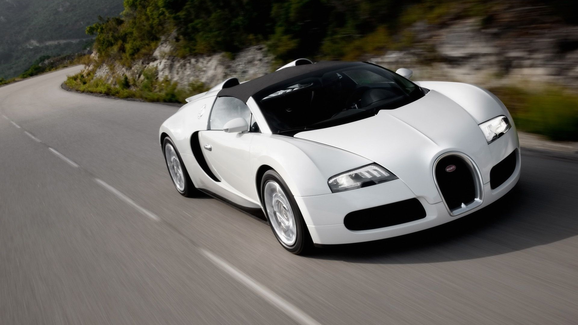 white bugatti rolling shot wallpaper 67207
