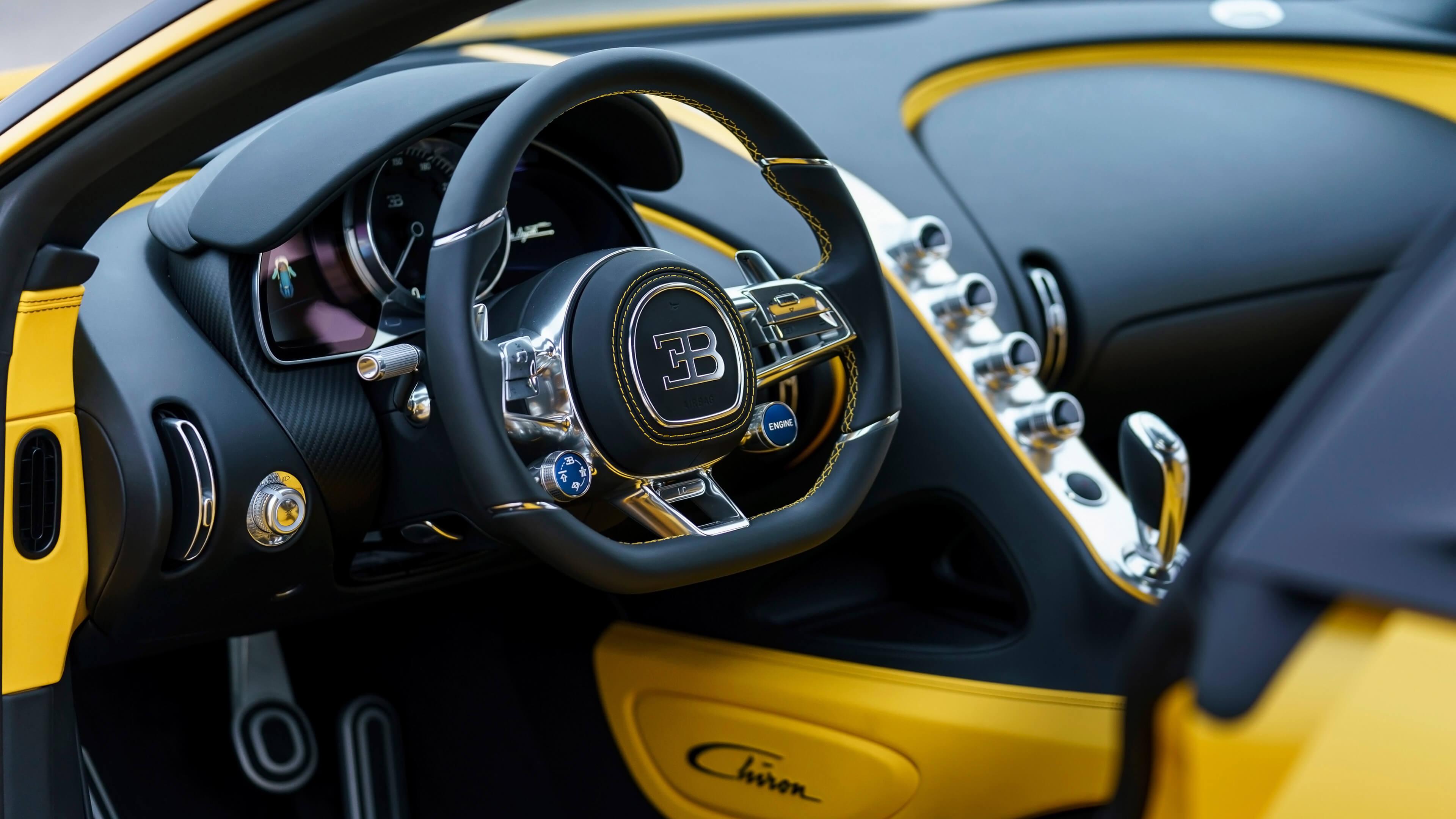 yellow bugatti interior wallpaper 67216