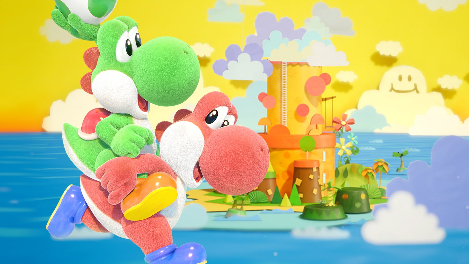 yoshis crafted world hd wallpaper 67351