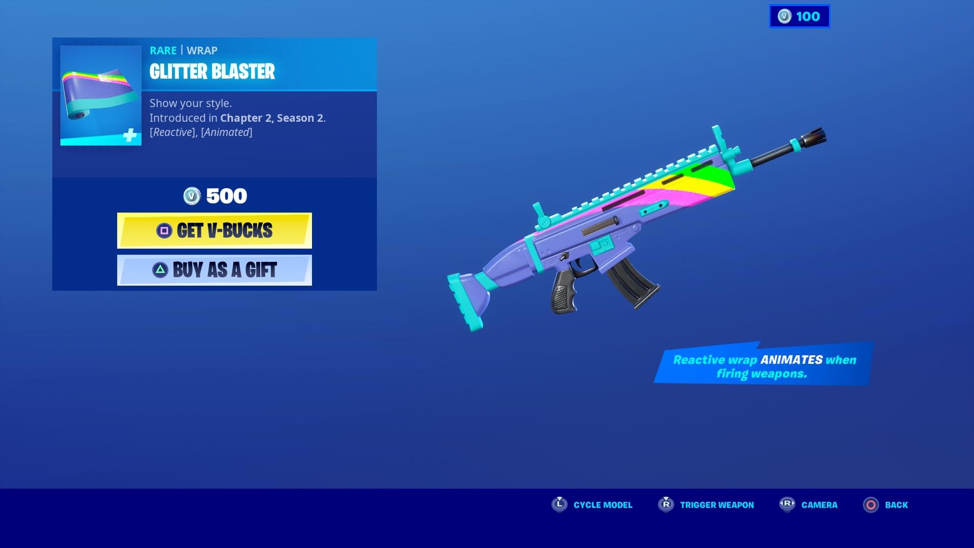 fortnite glitter blaster wallpaper 71507