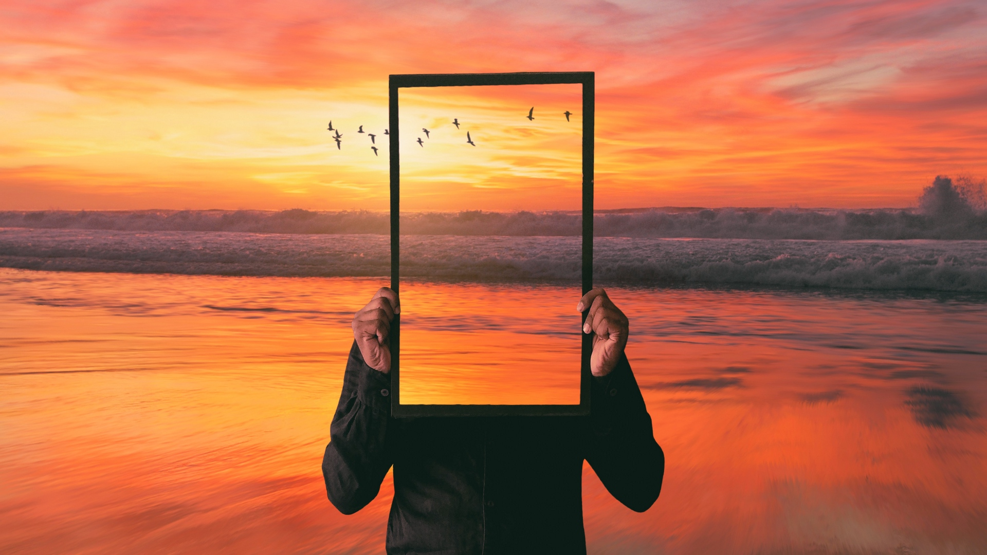 mirror wallpaper 70447