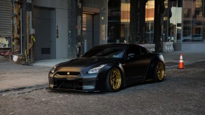 Black Nissan GTR HD Wallpaper 71678
