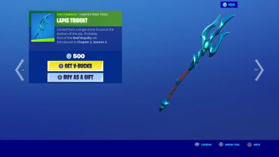Fortnite Lapis Trident Wallpaper 71524