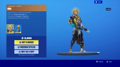 Fortnite Oro Wallpaper 71194