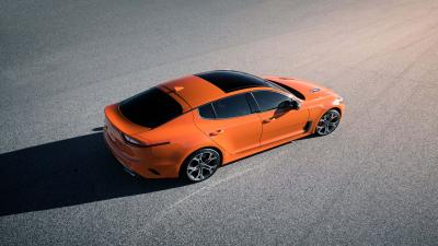 Orange Kia Stinger HD Background Wallpaper 70362