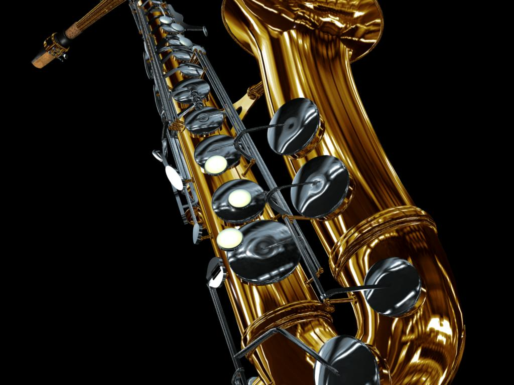 3d saxophone wallpaper 72337