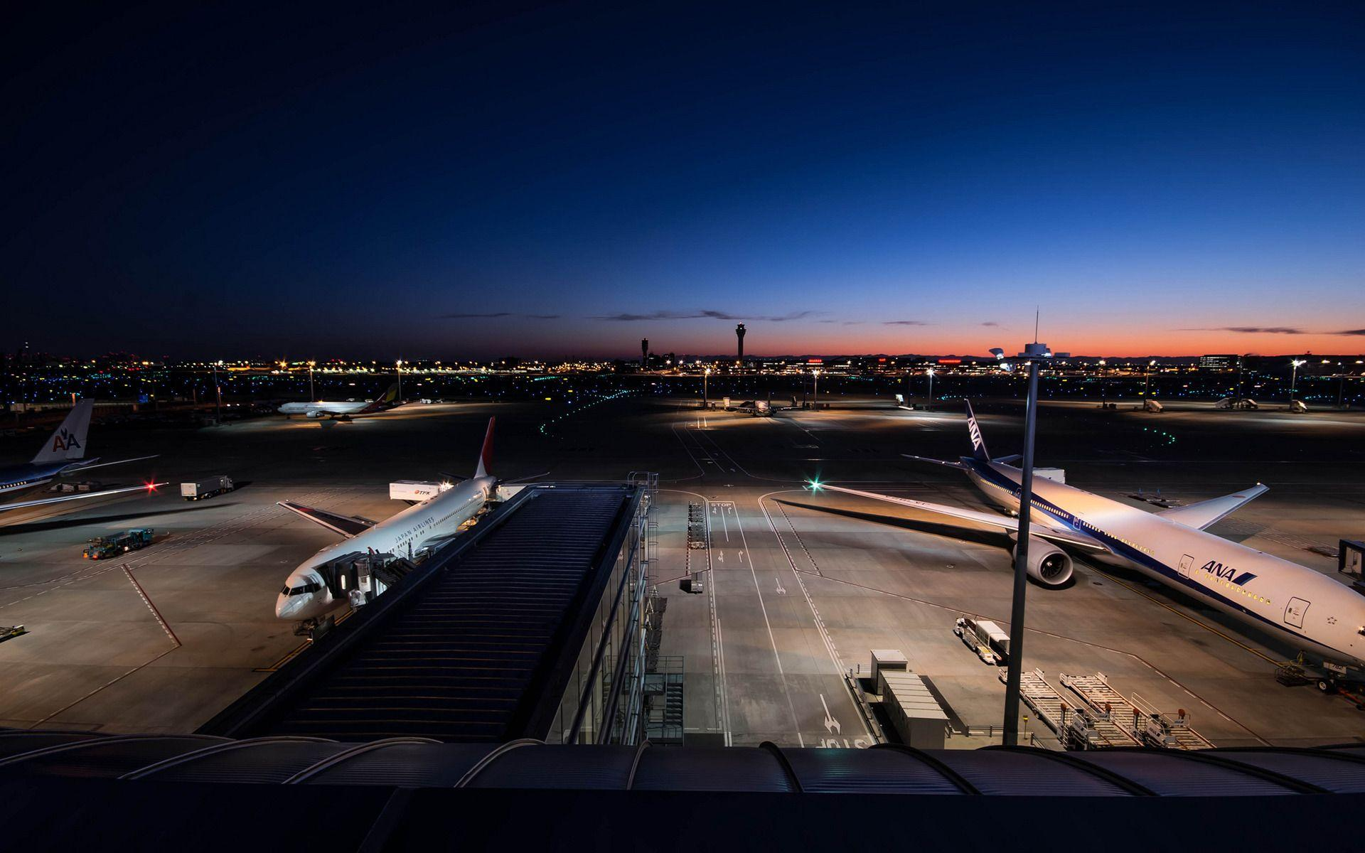 evening airport desktop wallpaper 70877