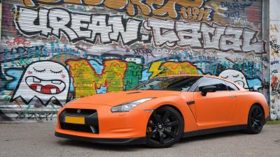 Orange Nissan GTR Background Wallpaper 71681