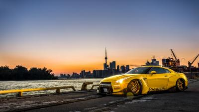 Yellow Nissan GTR Background Wallpaper 71680