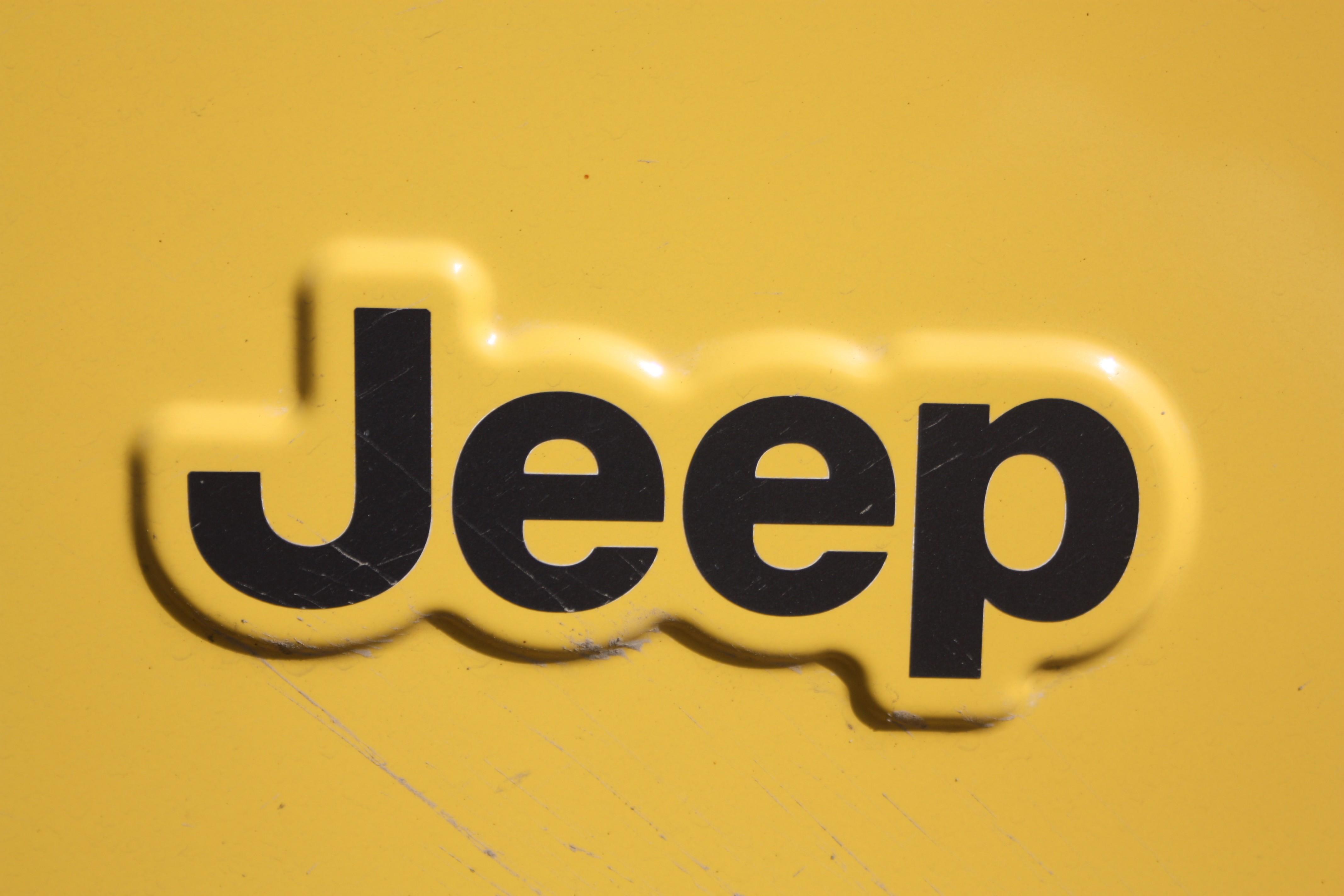 yellow jeep logo wallpaper 72702