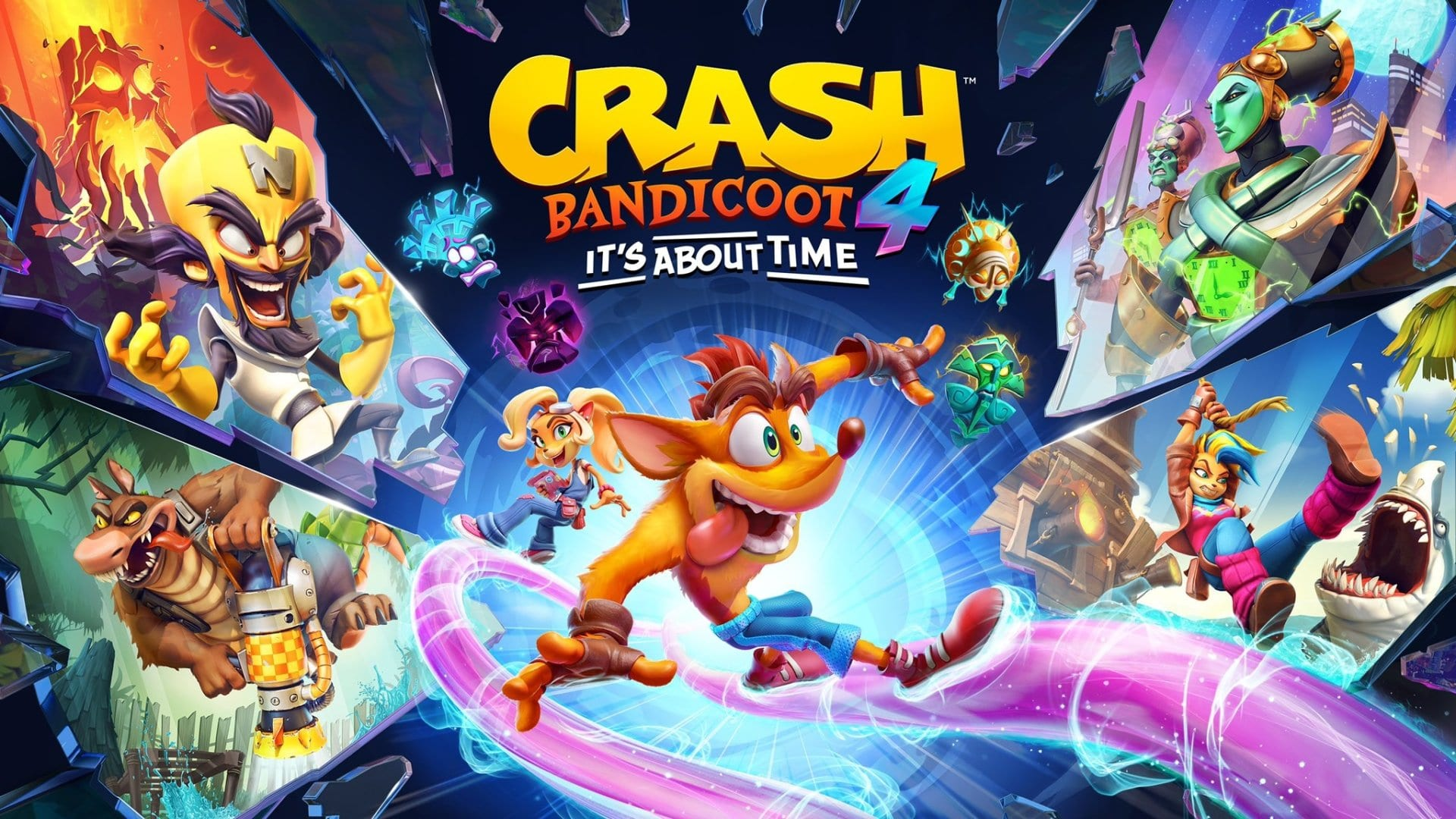 crash bandicoot 4 its about time cover art wallpaper 71949