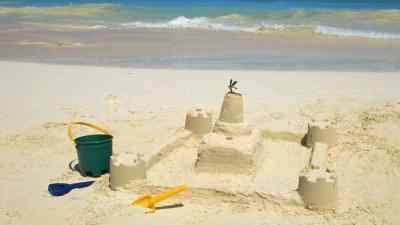 Sand Castle Background Wallpaper 71400