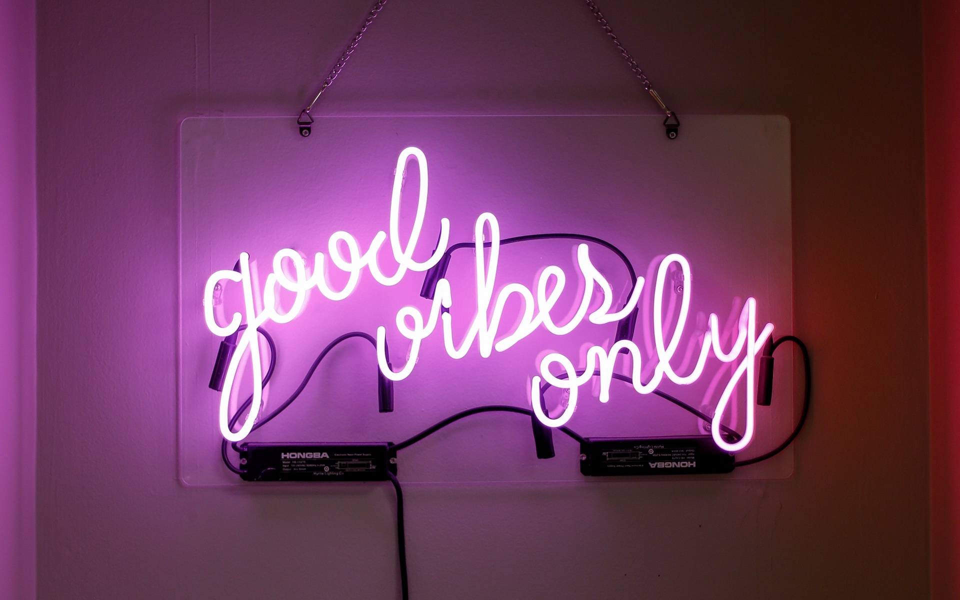 good vibes neon sign wallpaper 70598