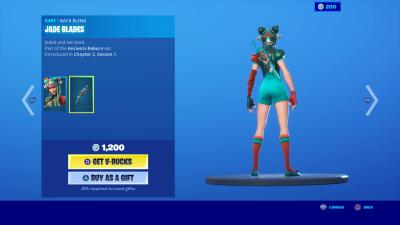 Fortnite Jade Blades Wallpaper 70150