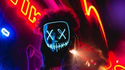 Neon Mask HD Wallpaper 71361