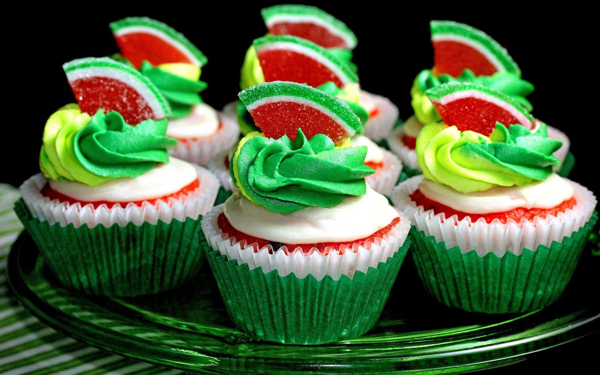 watermelon cupcake wallpaper 71077