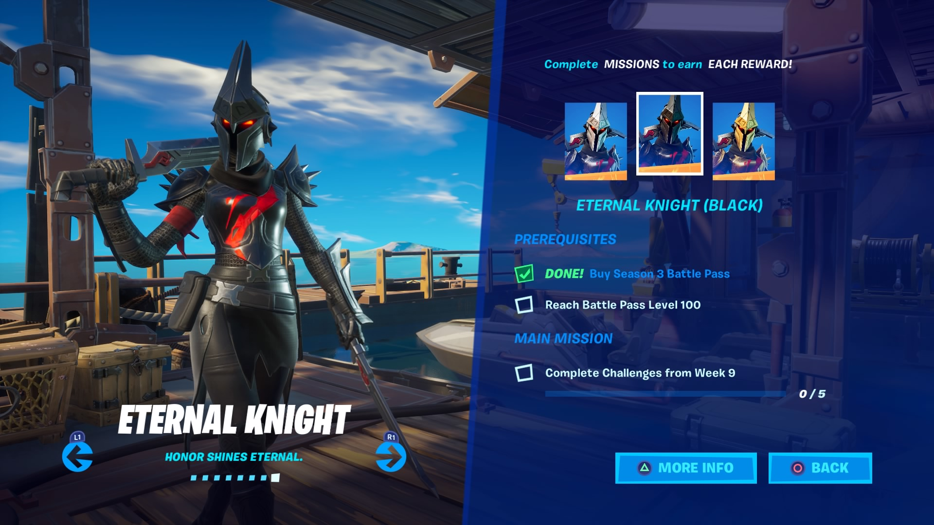 fortnite eternal knight black wallpaper 71396