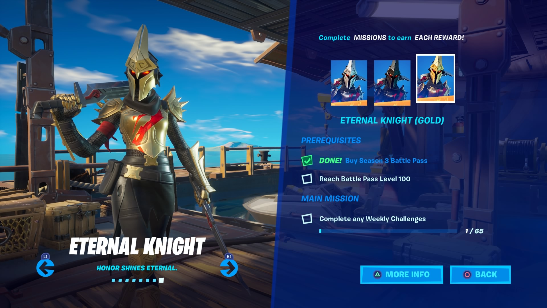 fortnite eternal knight gold wallpaper 71397