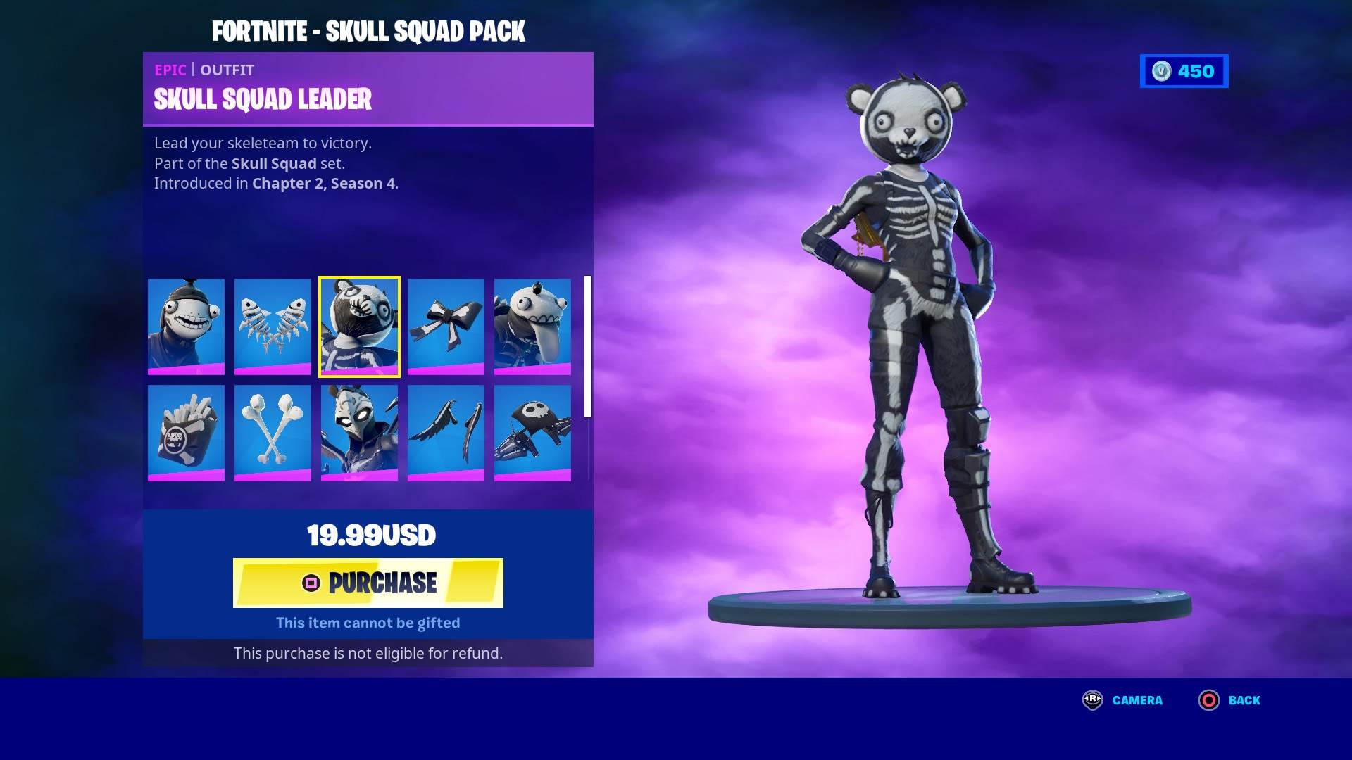 fortnite skull squad leader wallpaper 72145