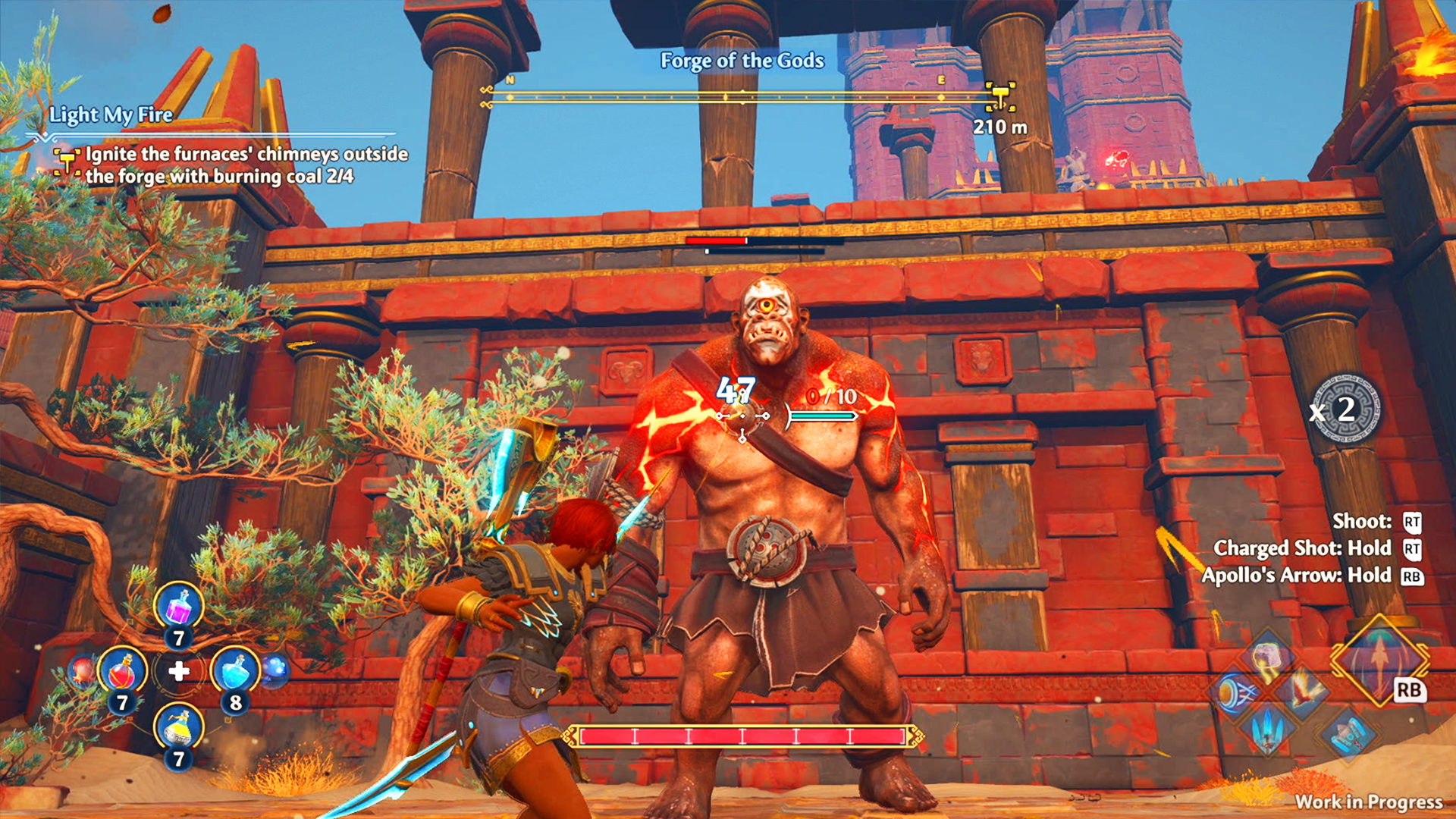 immortals fenyx rising gameplay wallpaper 72434