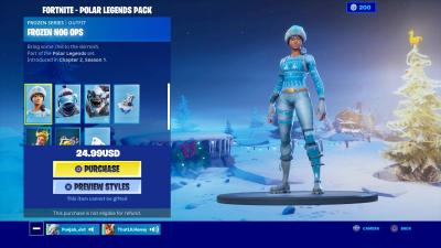 Fortnite Frozen Nog Ops Wallpaper 69925