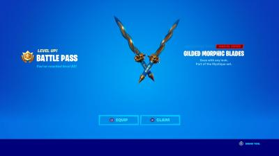 Fortnite Gilded Morphic Blades Wallpaper 72070