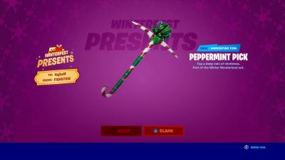 Fortnite Peppermint Pick Wallpaper 69907