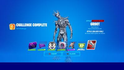Fortnite Silver Foil Groot Wallpaper 72159