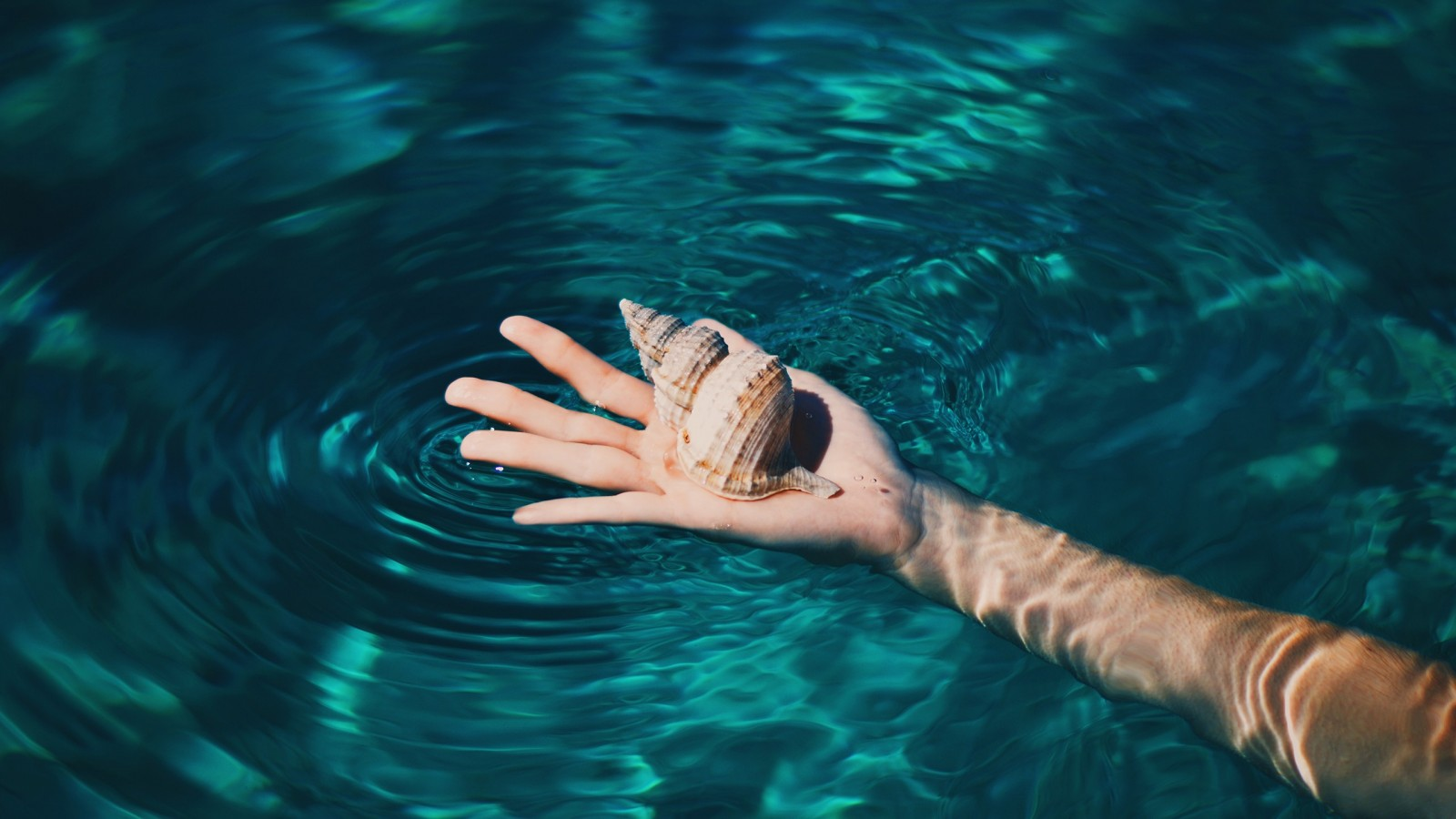 clear water hand wallpaper 70239