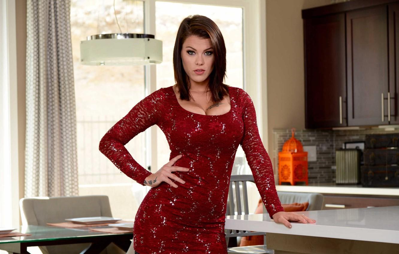 peta jensen red dress wallpaper 72026