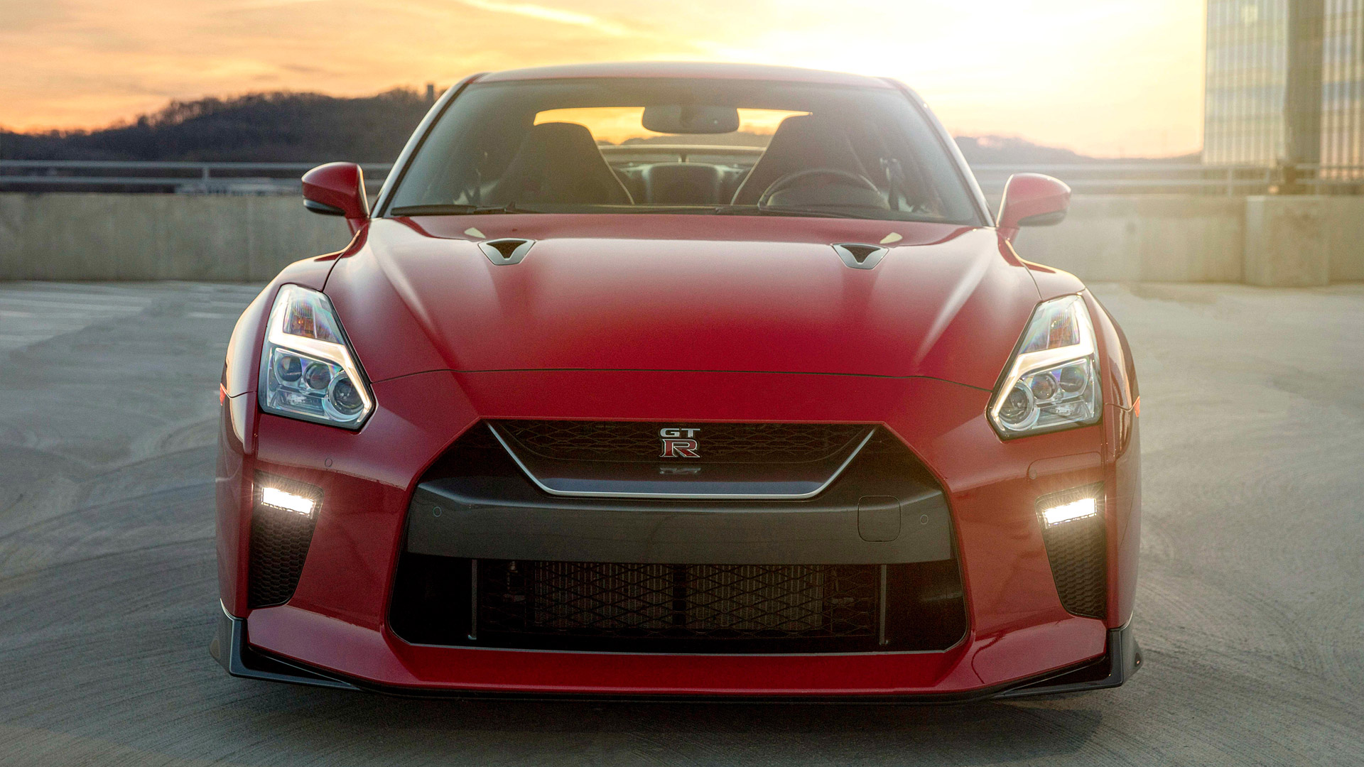red nissan gtr front view wallpaper 71687