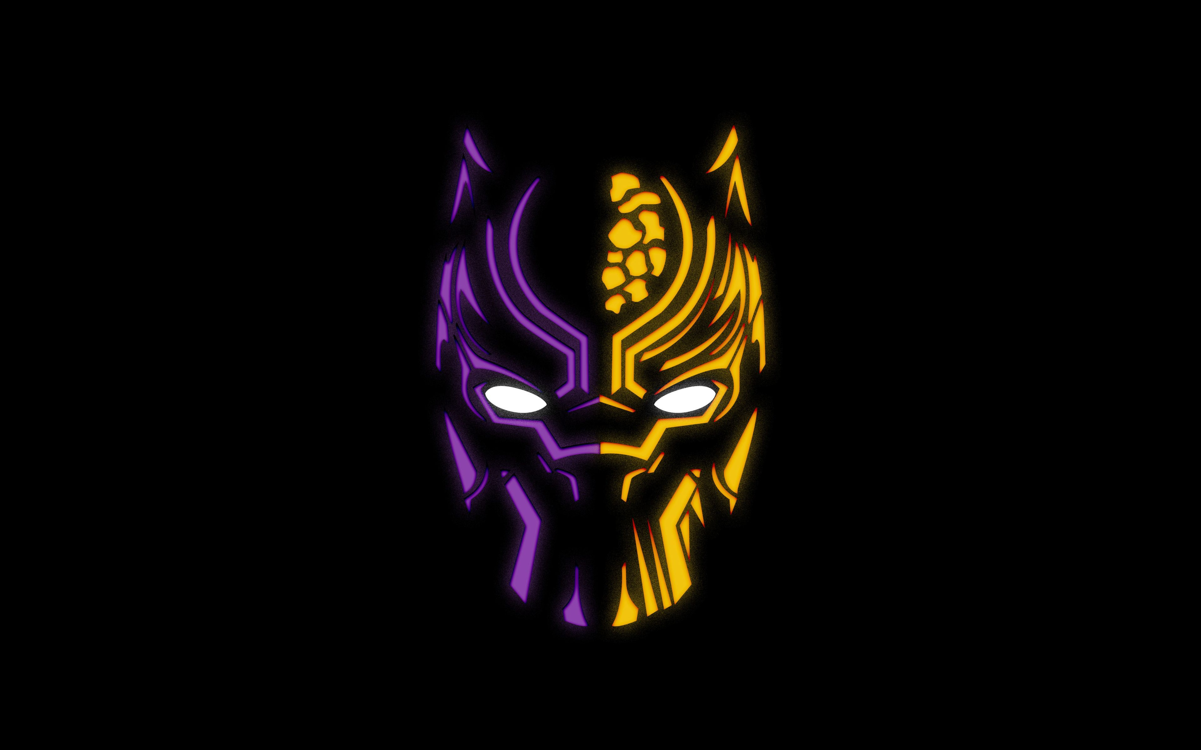 the black panther mask art wallpaper 71922