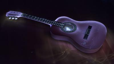 3D Guitar Wallpaper 72676