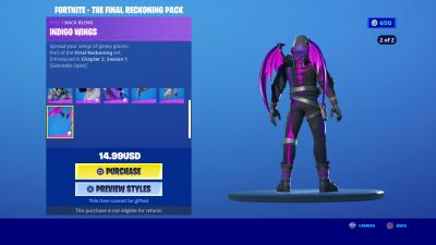 Fortnite Indigo Wings Wallpaper 72084