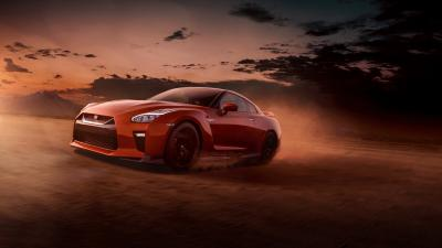 Red Nissan GTR Background Wallpaper 71685