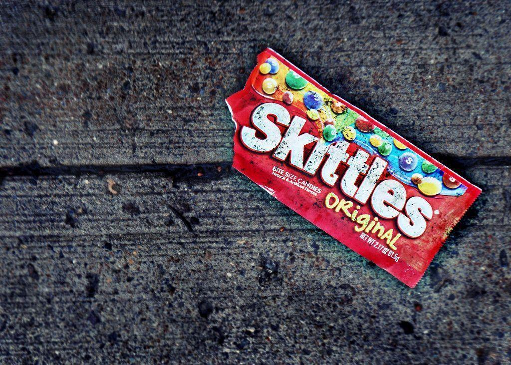 empty skittles bag wallpaper 72688