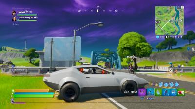 Fortnite Fast Car HD Wallpaper 71492