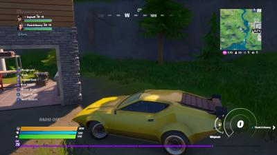Fortnite Yellow Car Wallpaper 71500