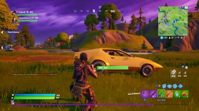 Fortnite Yellow Sports Car Wallpaper 71501