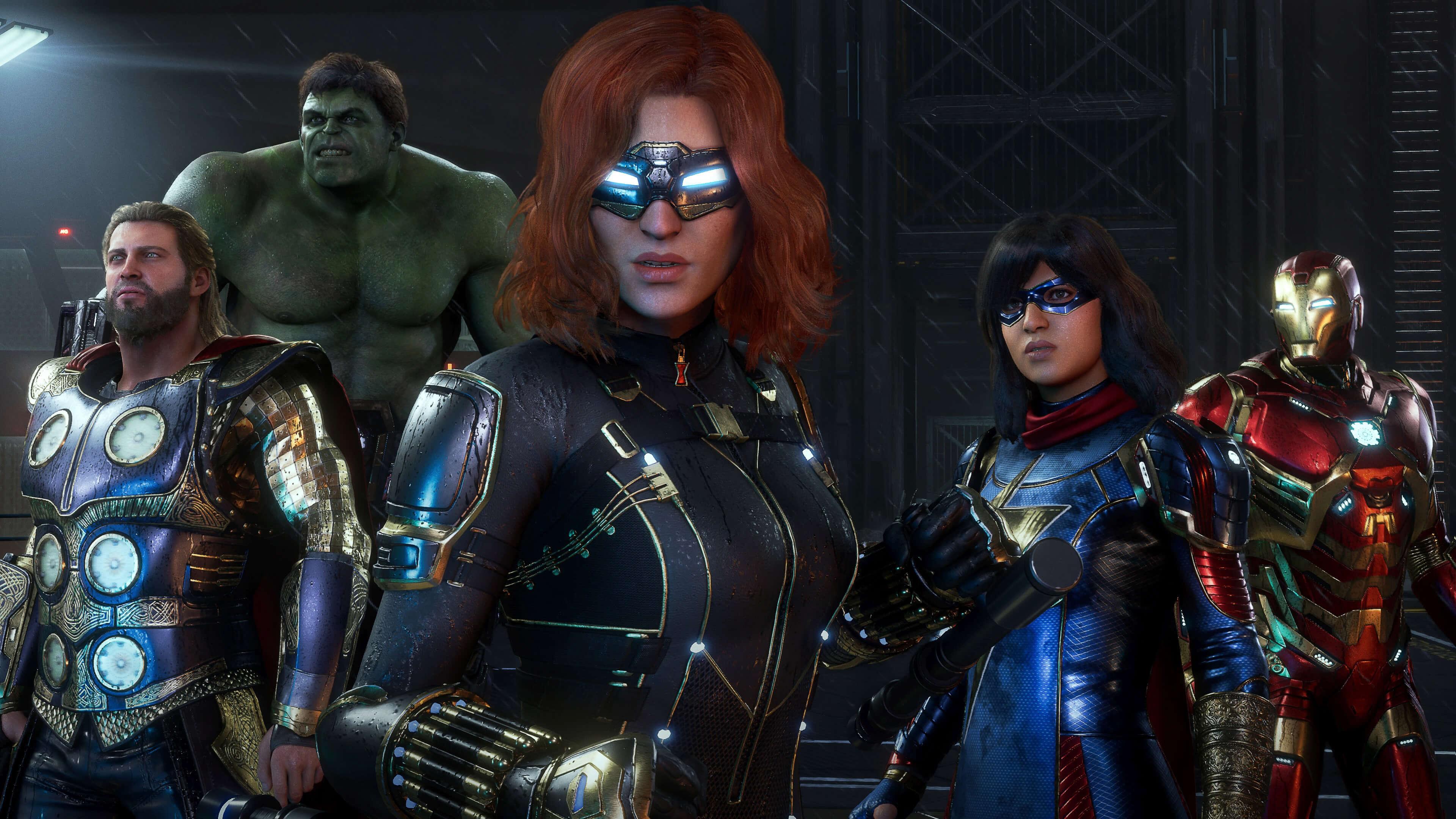 hd marvels avengers game wallpaper 74170