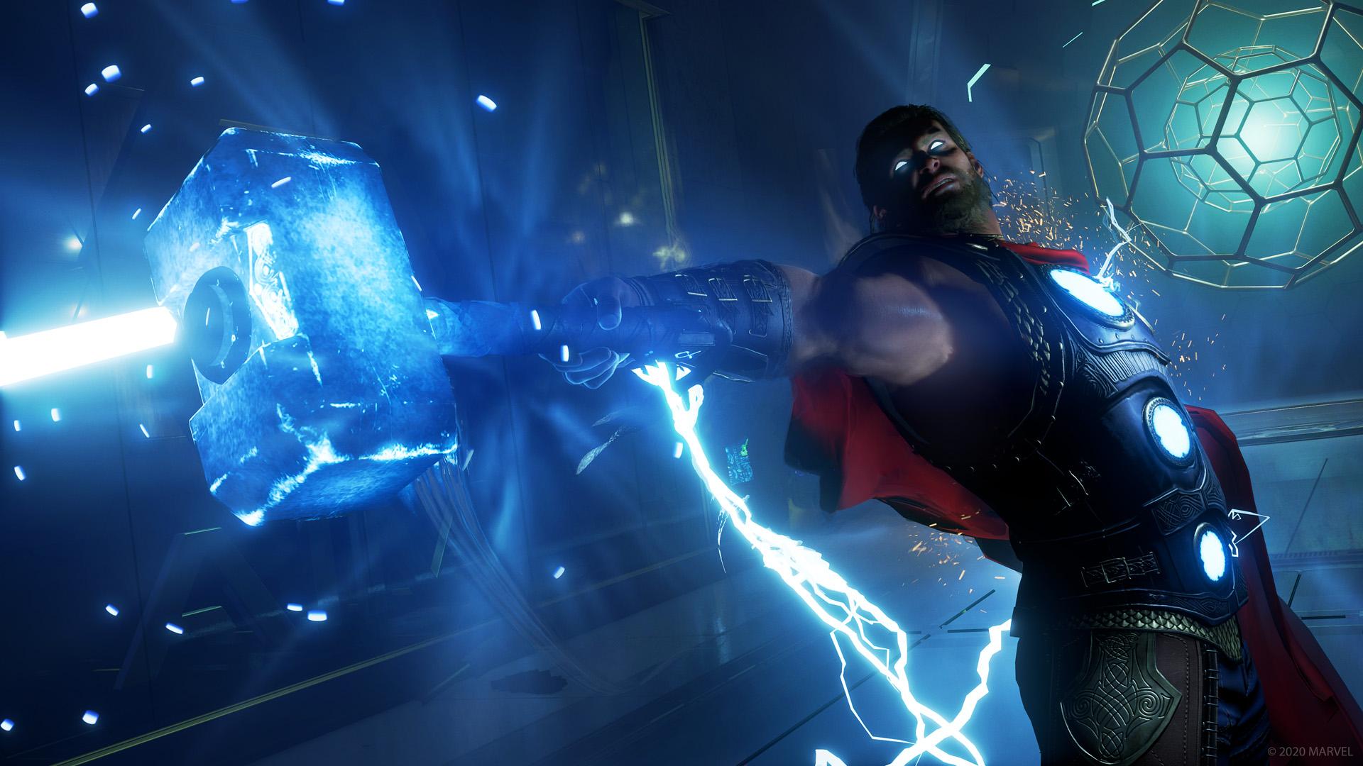 marvels avengers game thor wallpaper 74168