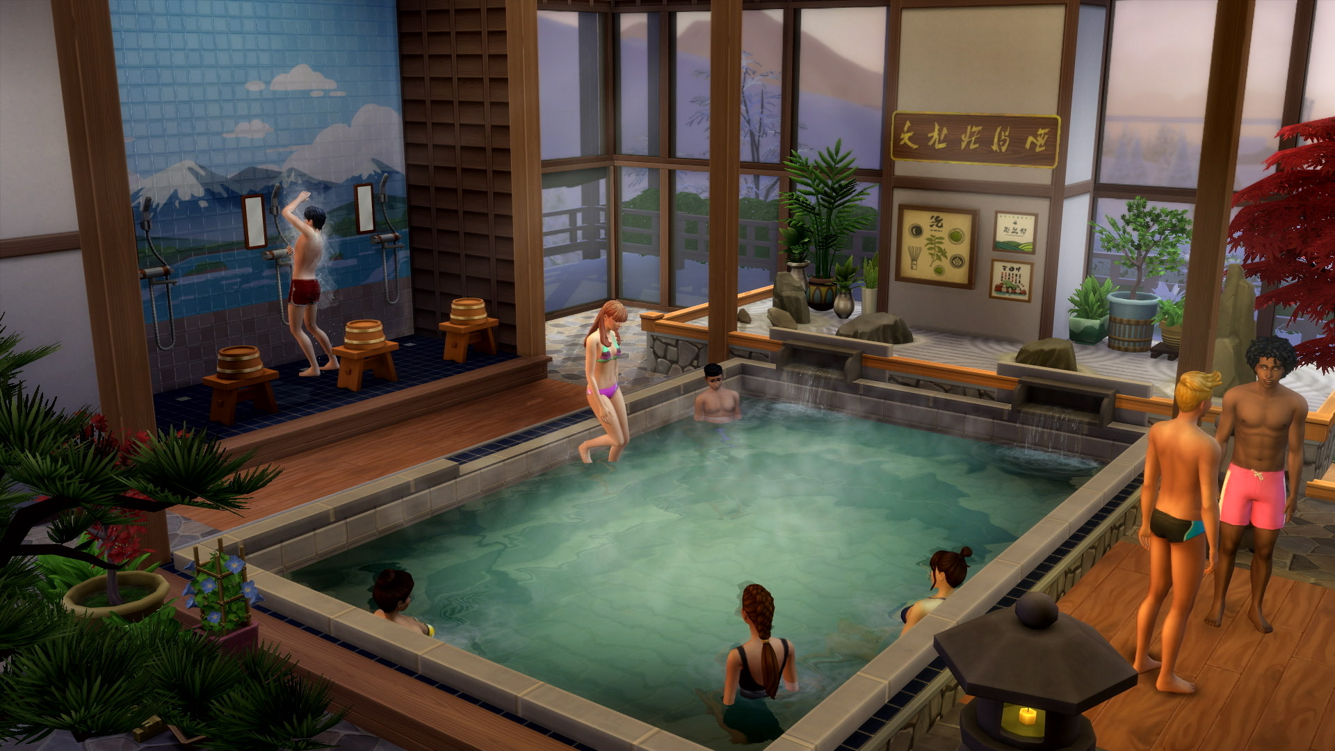 the sims 4 snowy escape background wallpaper 73084