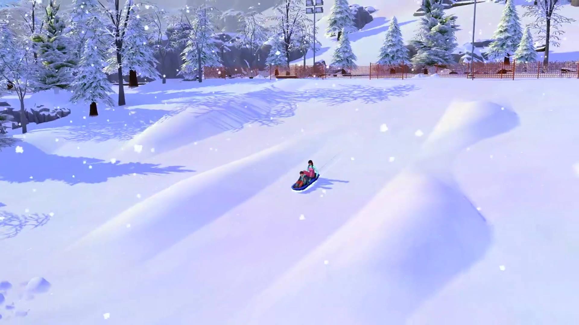 the sims 4 snowy escape wallpaper 73072